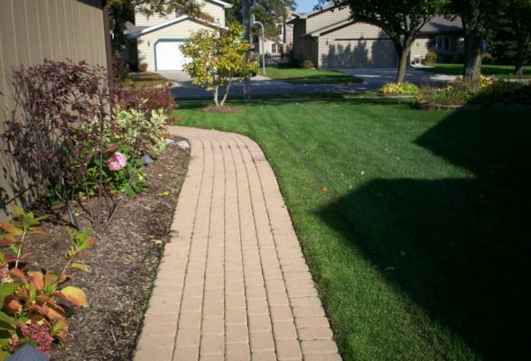 Brick walkways will connect and beautify your entire yard
