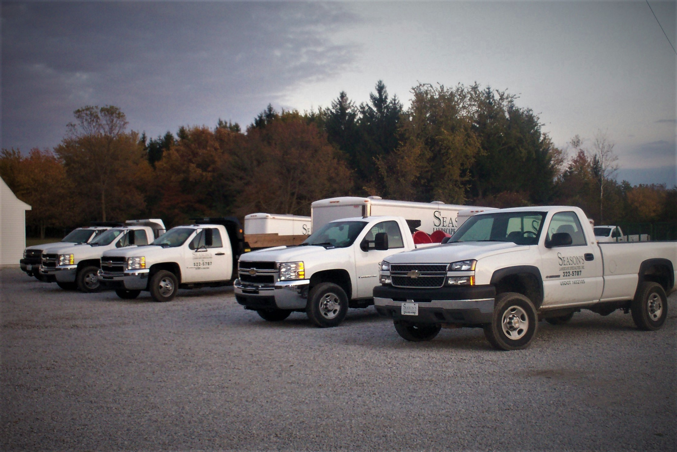 A fleet of trucks and equipment to meet all your landscaping needs